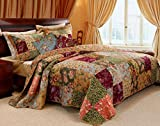 Black Forest Decor Country Meadows 4pc Bonus Bedspread Set - Twin