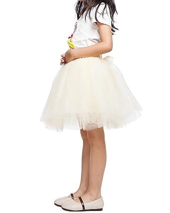 d568a4759 kephy Girl Tutu A Line Short Knee Length 7 Layers Tulle Skirt Child's Tutu  Ballet Skirt