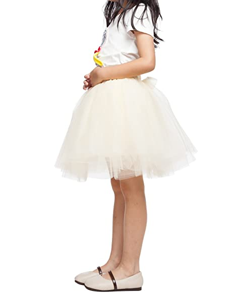 baea3d010c53a Little Girl Tutu Skirt A Line 7 Layers Tulle Skirt Party Princess Dance  Tutu Dress (3T -10T)