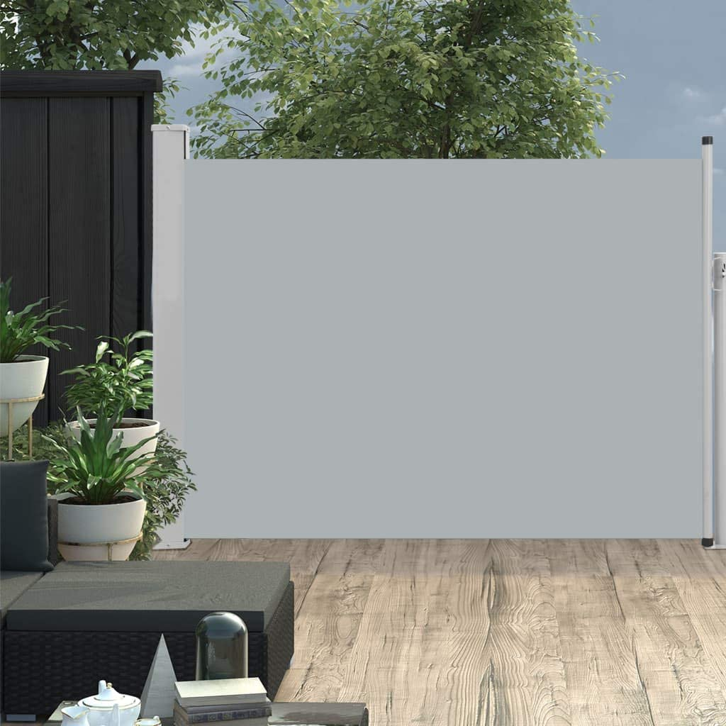 Patio or Balcony 31.5x118.1 Gray Tidyard Patio Retractable Side Awning Sun Shade and Wind Screen Privacy Waterproof for Terrace