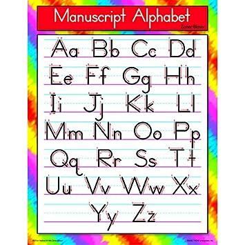 Amazon.com : Trend Enterprises Manuscript Alphabet Zaner-Bloser ...