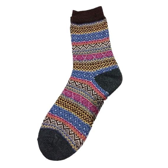 FENICAL Calcetines Calcetines de lana de conejo de invierno Medias unisex medias para mujeres (café