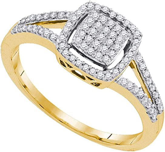 I2-I3 clarity; J-K color Jewels By Lux Yellow-tone Sterling Silver Mens Round Diamond Wedding Band Ring 1//5 Cttw In Pave Setting