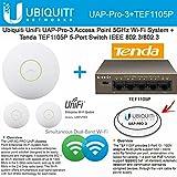 unifi ap pro 3 pack - Ubiquiti UniFi AP PRO UAP-PRO-3 Pack 5GHz + Tenda TEF1105P 5-Port Switch PoE