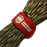 American Paracord Fish and Fire (Multi Camo 25 Feet) 550 Type III 9 Strand Survival, Tinder, Fishing, Parachute Cord