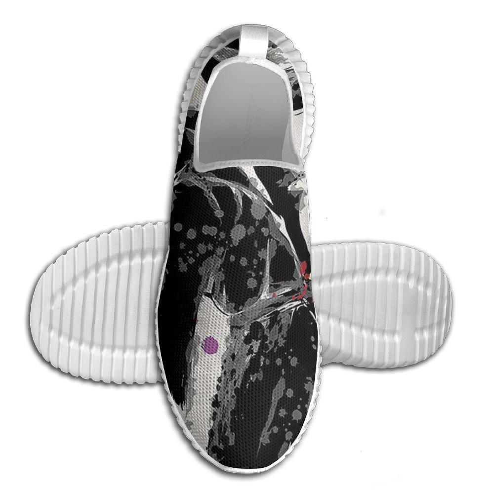 DiamondsJun Unisex Modern Woman In Trendy Coat Watercolor Paintbrush Style Casual Urban Design All Over 3D Printed Mesh Slip On Fashion Comfortable Shoes 42