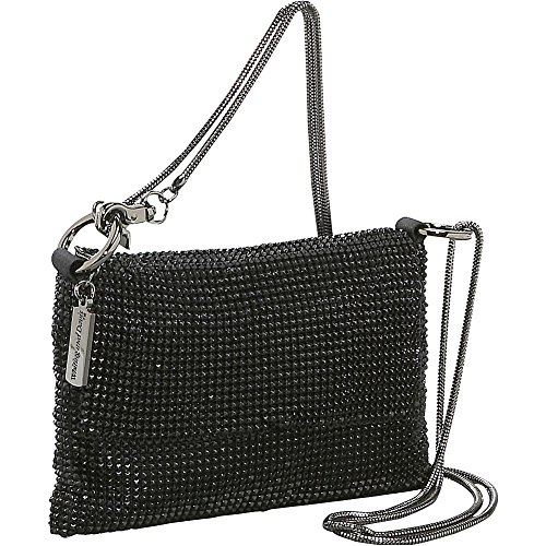 Davis Whiting Bag Cross Body Women's Black Pyramid amp; Mesh gAWqAwF5