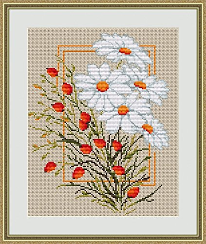 Luca-S Counted Cross Stitch Kit Daisies II