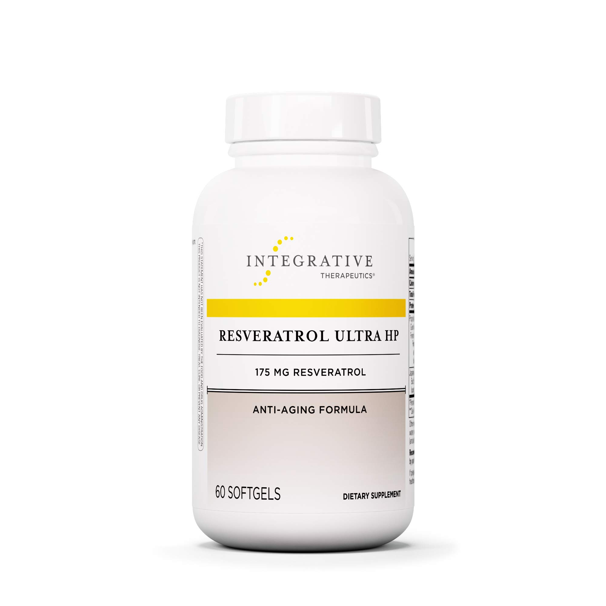 Integrative Therapeutics - Resveratrol Ultra HP, 175 mg Resveratrol - Anti Aging Formula - 60 Softgels