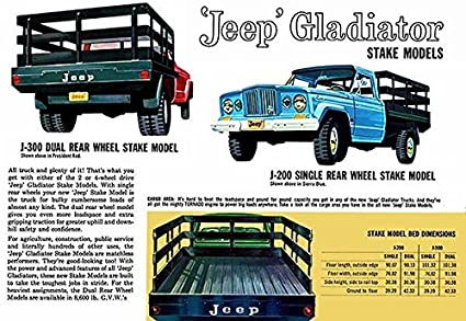 Amazon Com 1962 Jeep Gladiator Stake Models Promotional
