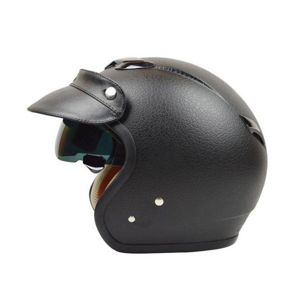 TZQ Motorrad Elektrische Auto Retro Prinz Helm Imitation Striae Batterie Auto Half Helm Mode Wrestling Hut Helm