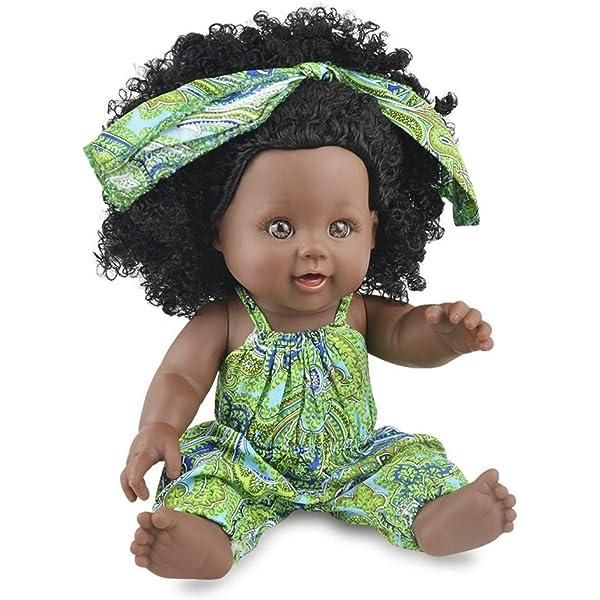Zerodis Suave Baby Doll Artificial Beb/é reci/én Nacido Realista de Cuerpo Completo Mu/ñeca Reborn Juegos interactivos Juguetes para ni/ños Regalo de cumplea/ños para ni/ñas Yellow Floral Jumpsuit