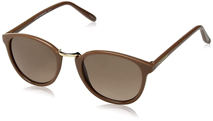 f413881ac893 Amazon.com: Lucky Indo Round Sunglasses Brown 50 mm: Clothing