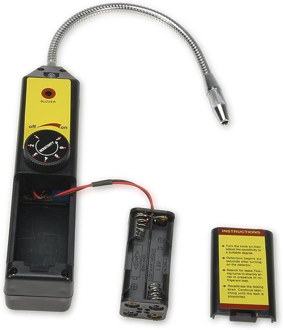 R134a R410a R22a Comprobador de HVAC Aire acondicionado Com CFC port/átiles HFCs Fuga de refrigerante Detector de fugas de hal/ógeno Detector de fugas de gas Detector de fugas de hal/ógeno refrigerante