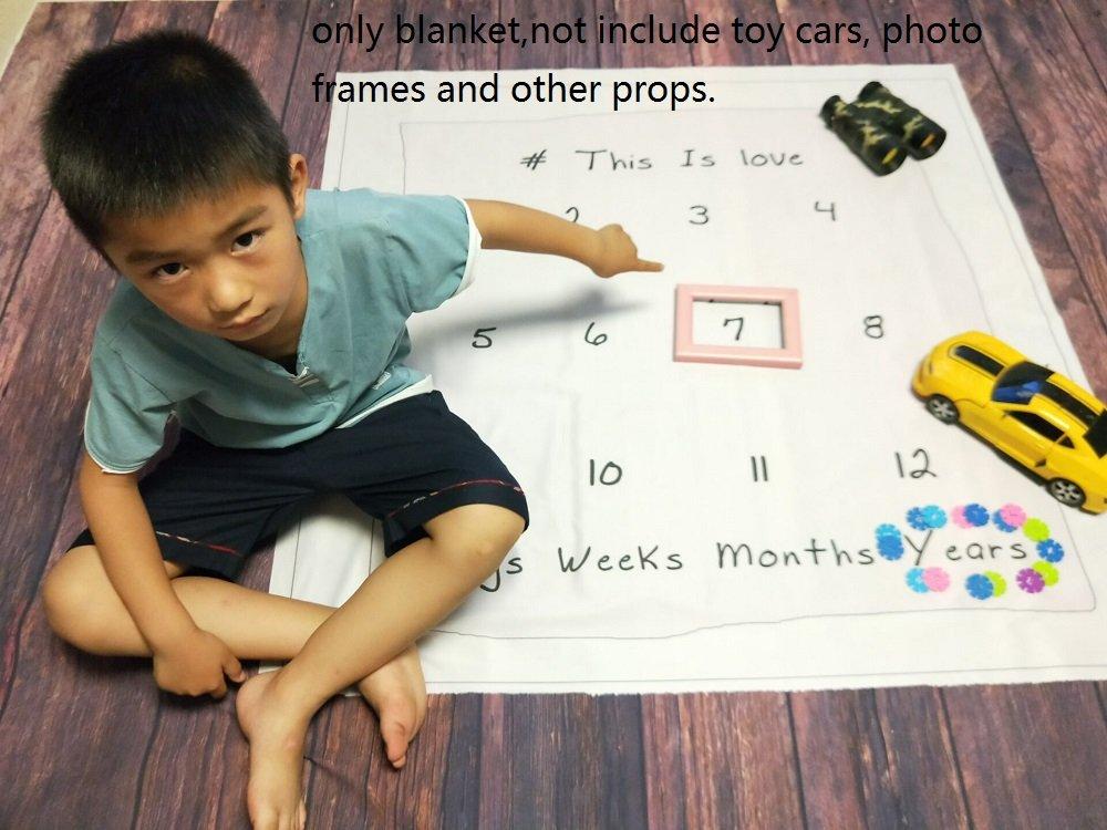 r/éutilisable Infant b/éb/é Couverture enveloppante pour la Photographie mensuel Milestone Couverture de b/éb/é Photo Props Fond de pousses