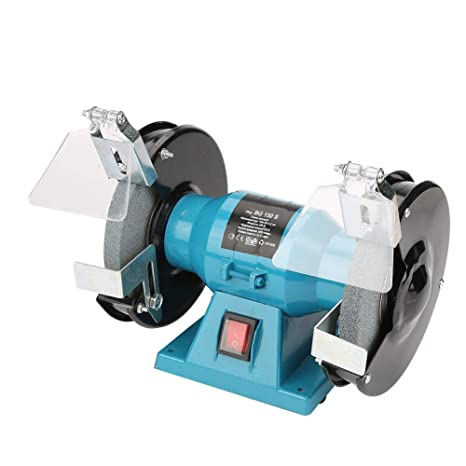 Amazing Bench Grinder 6 Inch 250W Mini Household Electric Polisher Coarse Fine Grinding Wheels Machine Tool Us Plug 110V With Eye Shields For P36 P80 Caraccident5 Cool Chair Designs And Ideas Caraccident5Info