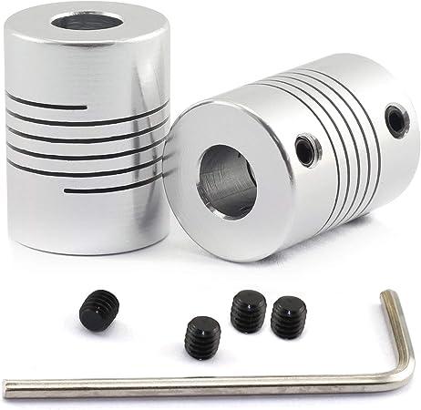Magic&Shell 2 Unidades de acoplador de Eje D19xL25 de Aluminio ...
