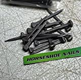 Horseshoe Nails - Size 5 - City Head - for Jewelry Supplies, Leaded Stained Glass Projects, Horses, or Rustic Decor - The Heritage Forge Blackened - 250