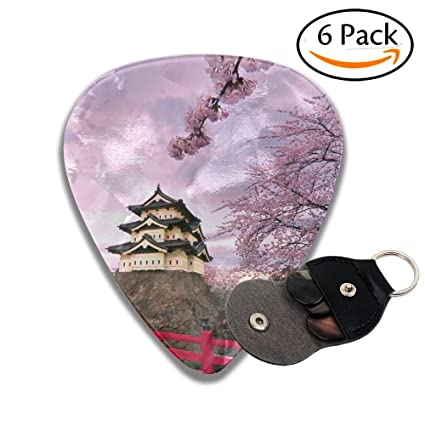 Púas para guitarra Hirosaki Castle Japan 351 con forma clásica, diseño fresco, mejores púas