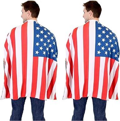 Capa de la Bandera Estadounidense del 4 de Julio - Disfraz del Día de la Independencia de