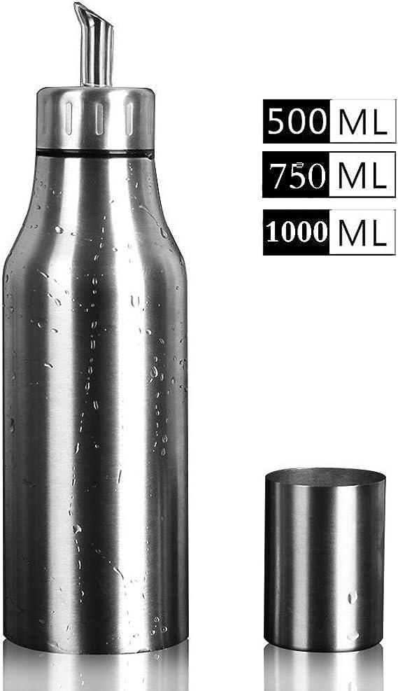 Bottiglia Per Olio Dispenser Per Olio Di Oliva Contenitore Per Olio Per Salsa Di Aceto Commestibile Dispenser Per Olio Vaso Con Sigillo Per Olio in Acciaio Inossidabile Per Cucina Casalinga