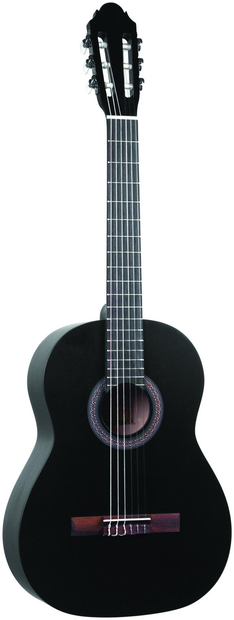 Lucida LG-400-1/2BK Student Classical Guitar, Black, 1/2 Size
