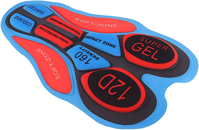 Fahrradhose Gepolstert 5D Gel Pad Zubehör für Radhose Unterhose Fahrrad Shorts