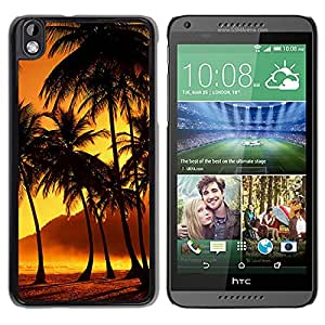 Nature Sunset Beach Coconut Grove Durable High Quality HTC Desire 816-1 Phone Case