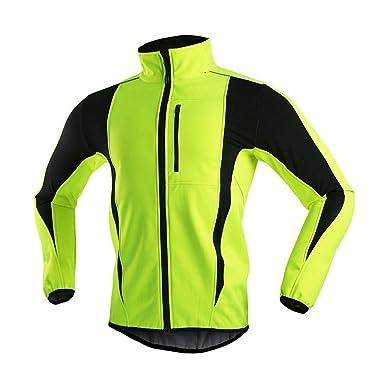 Blckmanba Men s Winter Warm up Thermal Softshell Cycling Jacket Windproof  Waterproof for Winter S 83b650df3