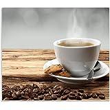 Kaffee motiv Herdabdeckplatte 59x52 für Ceran//Induktion Herdschutz aus Glas