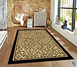 "LEOPARD SKIN PATTERN ANIMAL PRINT AREA RUG (5' 3"" X 7' 5"")"