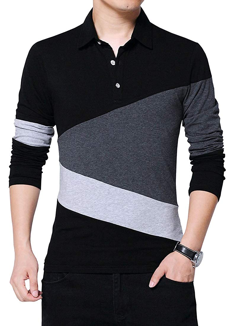 Lovelelify Mens Polo Shirt Casual Slim Fit Polo T Shirts
