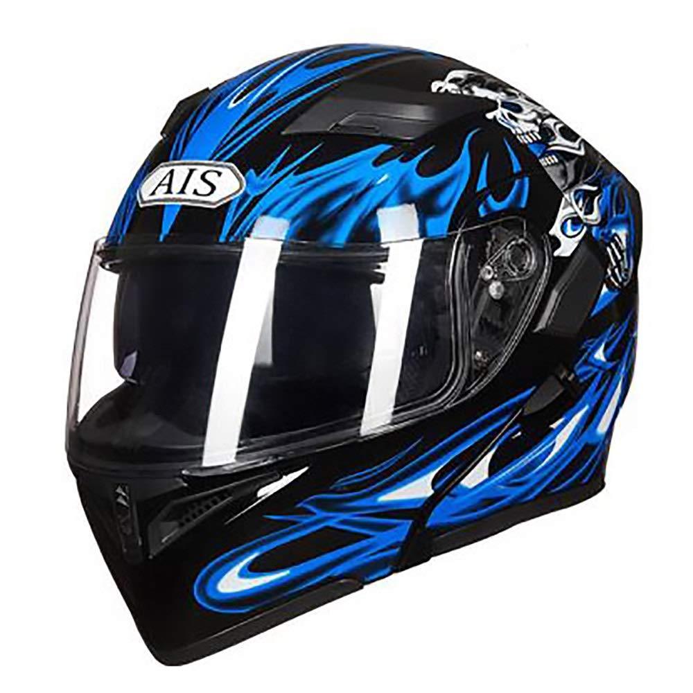 HYH 青炎パターン大人自転車ヘルメット乗馬電気自動車オートバイヘルメット自転車マウンテンバイクヘルメット屋外乗馬機器 いい人生 (Size : XXXL) XXXL  B07SCRH837