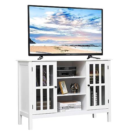 Amazon.com: Tangkula - Mueble de madera para televisores de ...