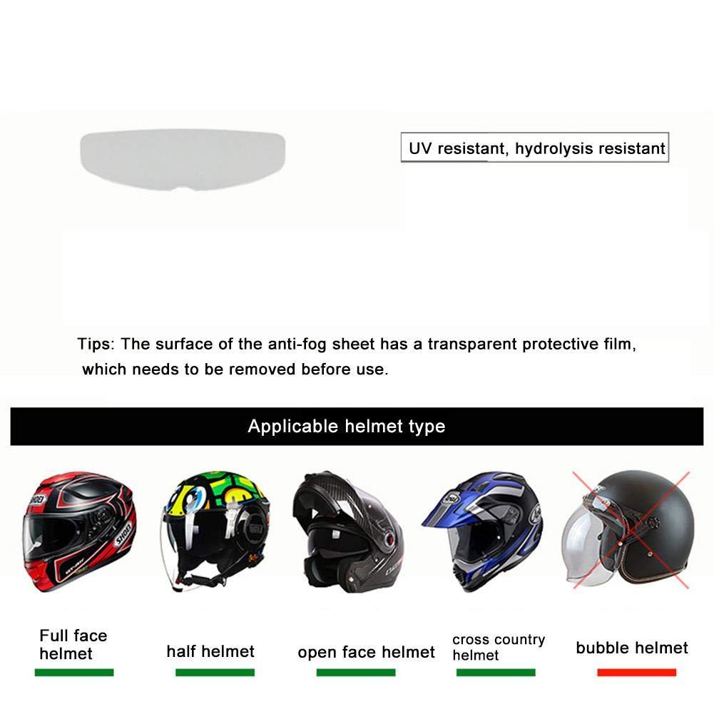 Cherishly /Casco de la Motocicleta Lente Pel/ícula antiniebla Universal Visera Transparente Pegatinas de Lentes Gafas Adhesivas Pel/ícula antivaho