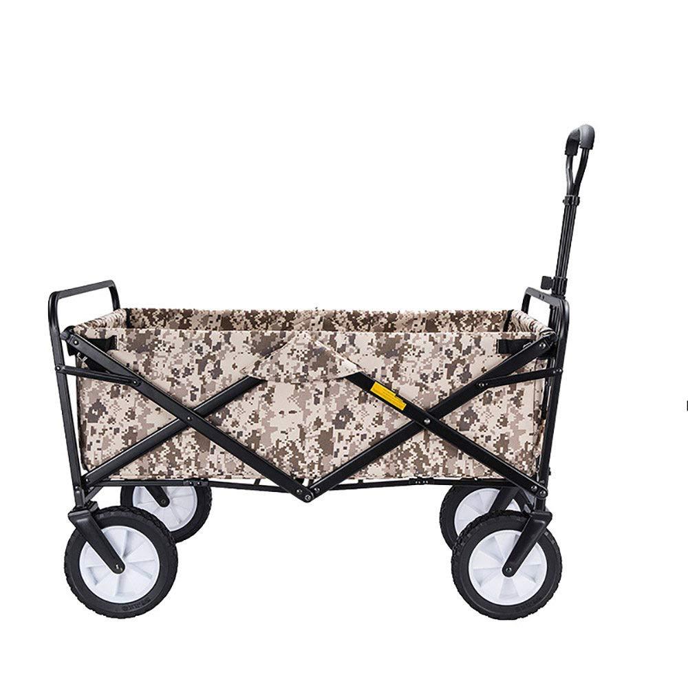 CHHBOXCHH Wagon Outdoor Strandwagen Folding Bollerwagen Faltbar Strand Kinder Babys Supermarkt Einkaufswagen,Multi-ColGoldt-M