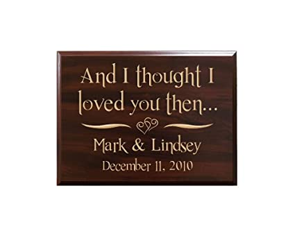 Amazoncom Personalized Sign With Names Date And Quote And I
