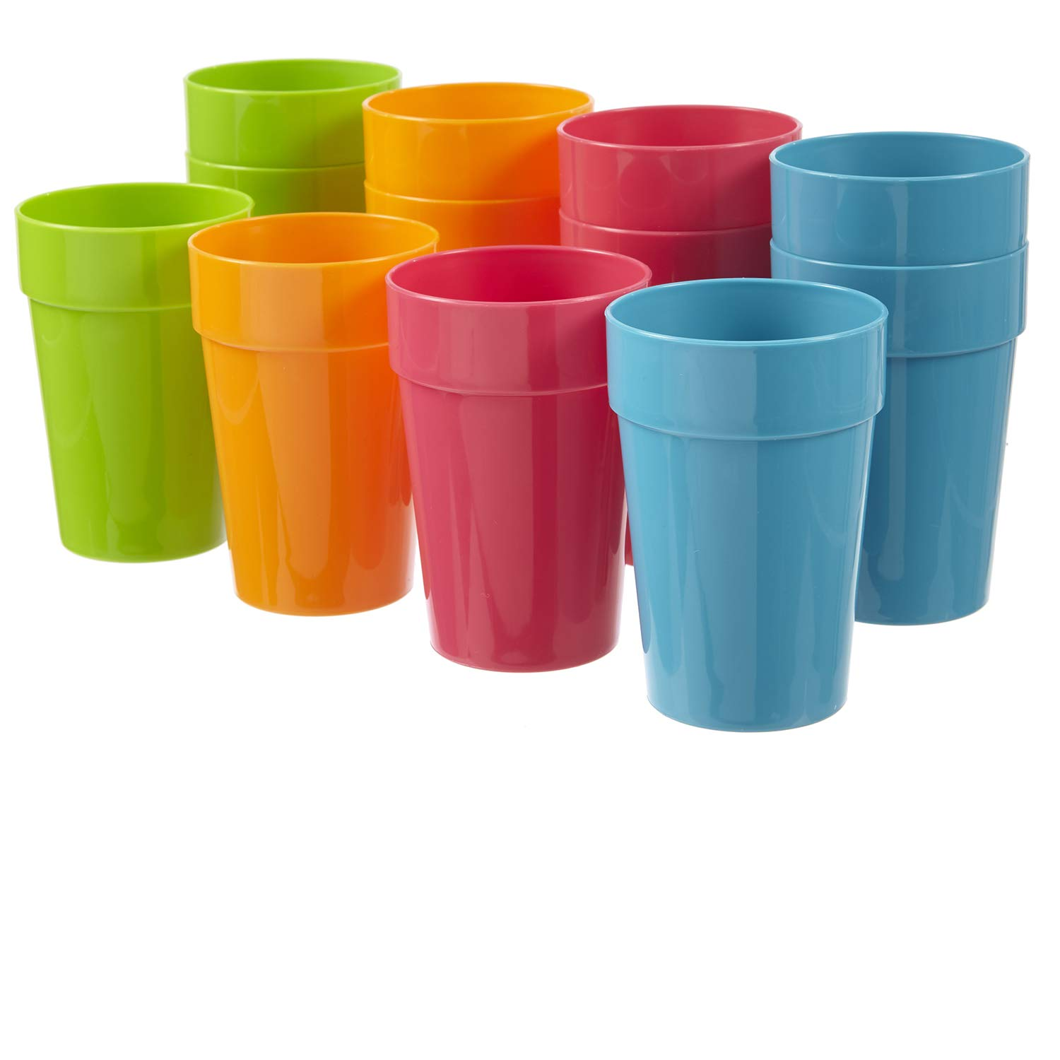 Harmony 10-ounce Juice Cups | set of 12 in 4 Calypso Colors by US Acrylic