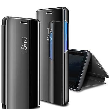 AROYI Funda Huawei Mate 20 Pro,Carcasa Huawei Mate 20 Pro Clear View Standing Espejo Flip Estilo Libro Carcasa Rasguño y Resistente Plegable Cover ...