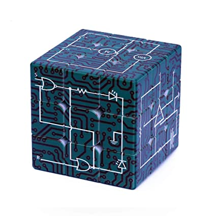 Alician 3x3x3 Electric Circuits Pattern Printing Puzzle Magic Cube Toy for Student