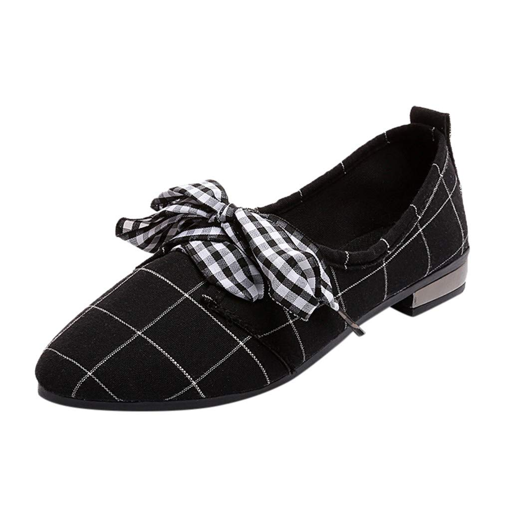 Luckhome Damenschuh Damen Sneaker Damenschuhe Klettverschluss Fitnessschuhe Schuhe Frauen Bogen Low Cut Freizeitschuhe Mode flachen Mund wies Flache Schuhe