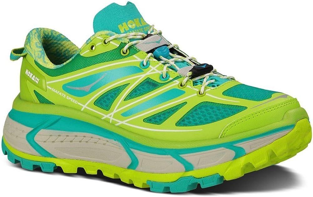HOKA ONE ONE Women s Mafate Speed Running Shoes Acid Aqua Grey B M US