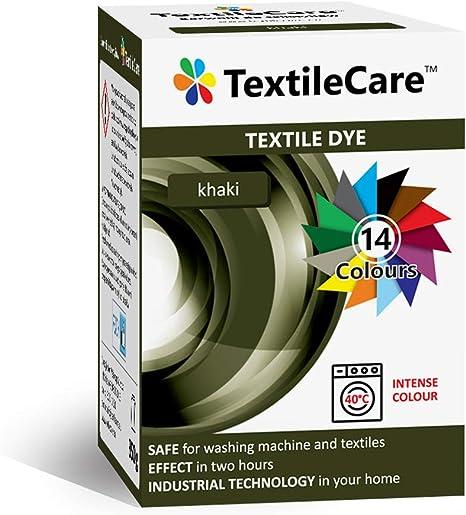 TextileCare Tinte de tela para lavadora para ropa y textiles, 350 g de tinte para ropa de 600 g, 14 colores (Khaki)