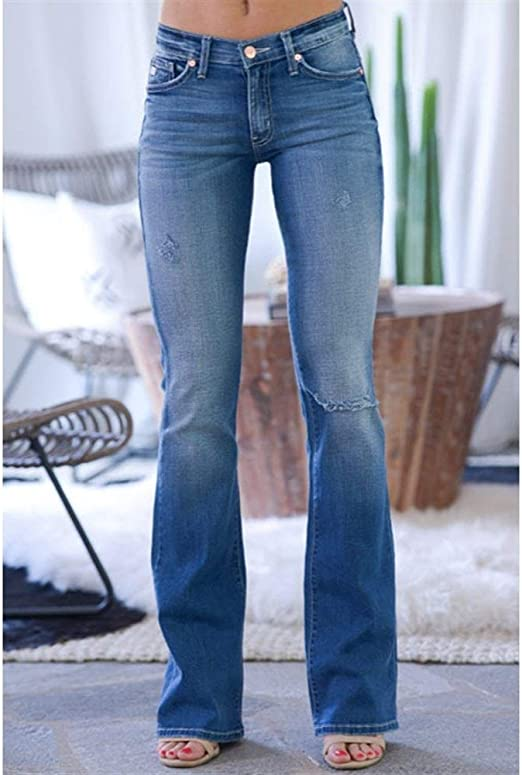 XinXinFeiEr Frauen-Bleistift Super Dünne Dünne Mikro-Lautsprecher Jeans Sexy Low (Color : Light Blue, Size : 2XL): Küche & Haushalt