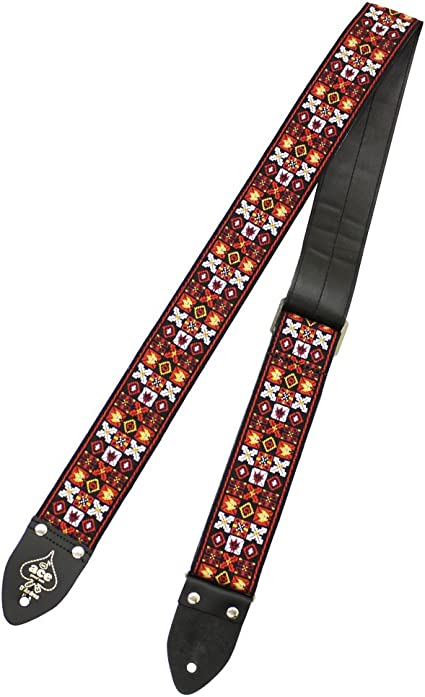 NEW D/'Andrea Ace Vintage Style Hendrix Xs and Os Guitar Strap