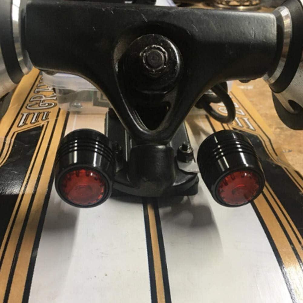 MOCRIS 4Pcs LED Skateboard LED Lichter Warnung Sicherheitsnacht f/ür 4 R/äder Skateboard Longboard