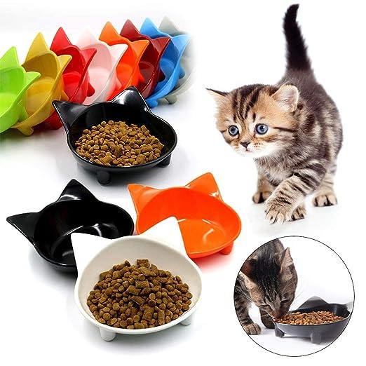 Haloku - Cuenco Antideslizante para Comida de Gato, Cuenco de ...