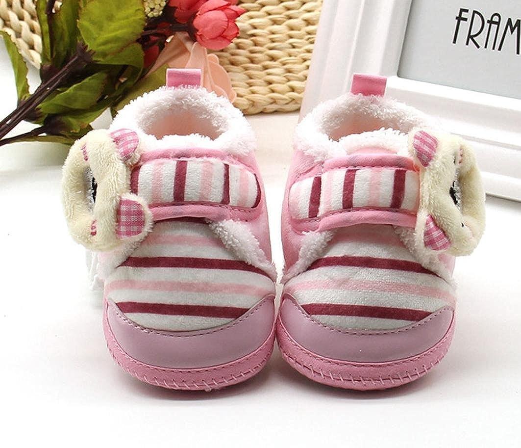 Celendi Cute Newborn Bear Crib Shoes Baby Girls Boys Soft Sole Witnter Slippers