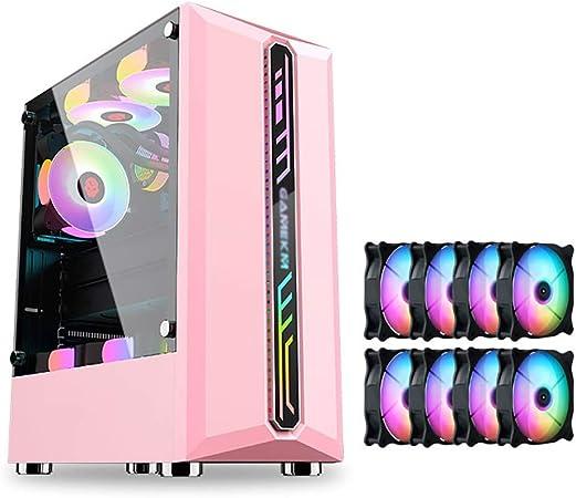 WSNBB Caja Rosada del Juego, Semitorre ATX/M-ATX/ITX Caja De La Computadora PC del
