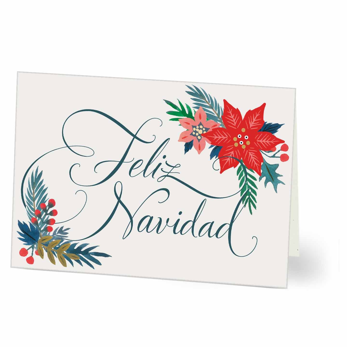 Spanish Hallmark Business Holiday Card For Customers Or Employees